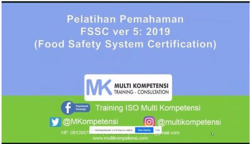 Pelatihan Pemahaman FSSC 22000