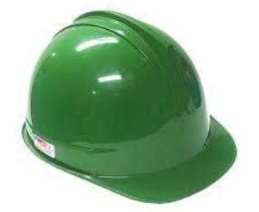helm hijau safety