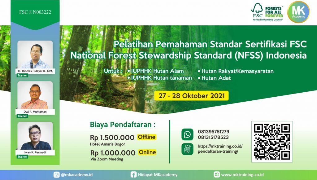 Pelatihan sertifikasi FSC NFSS