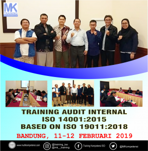 Pengalaman Training Audit Internal ISO 14001 : 2015