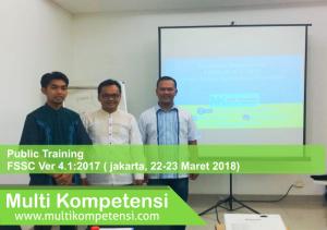 Pengalaman Training & Konsultasi Multi Kompetensi MK FSSC 22 23 Maret 2018 300x211