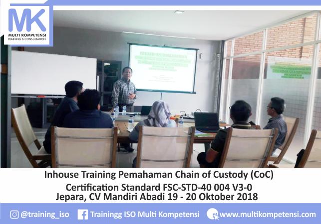 Pengalaman Training & Konsultasi Multi Kompetensi CV Mandiri Abadi 19 20 Oktober 2018 CoC FSC Multi Kompetensi 01