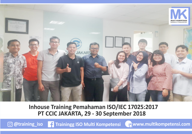 Pengalaman Training & Konsultasi Multi Kompetensi ISO17025 PT CCICJakarta 04