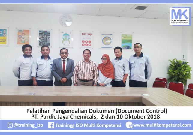 Pengalaman Training & Konsultasi Multi Kompetensi Multi Kompetensi Trainig Pengendalian Dokumen PT Pardic Jaya Chemical 01 1