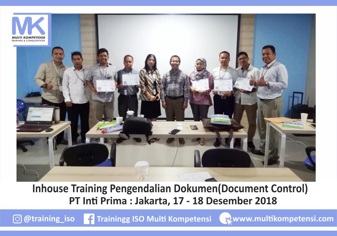 Doc-Control-PT Inti Prima - 17-18des2018-01  Pengalaman Training & Konsultasi Multi Kompetensi Doc Control PT Inti Prima 17 18des2018 01