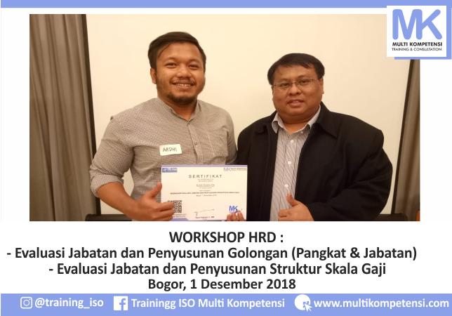 Pengalaman Training & Konsultasi Multi Kompetensi Workshop HRD 1 Desember 2018 01