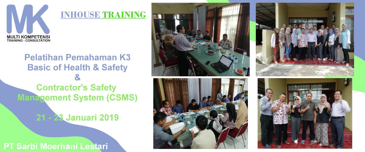 k3 csms  Pengalaman Training & Konsultasi Multi Kompetensi k3 csms