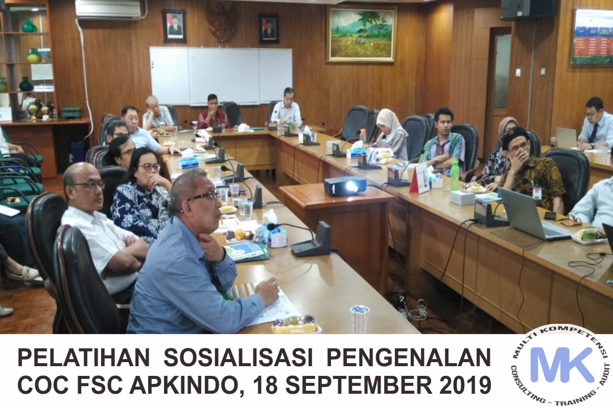 Sosialisasi Pengenalan CoC FSC, APKINDO, 18 September 2019