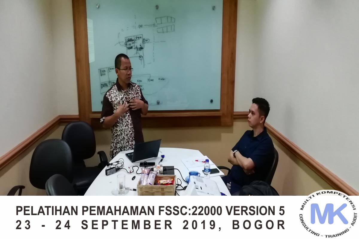 Training FSSC:22000 Food Safety Version 5, 23 – 24 September 2019