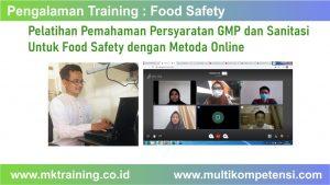 training GMP dan sanitasi untuk food safety