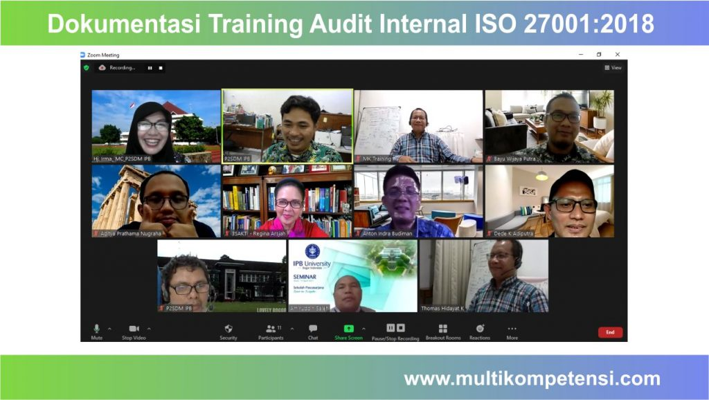 training audit internal iso 27001